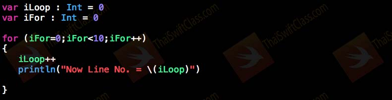 ThaiSwiftClass Control Flow For Loop 1