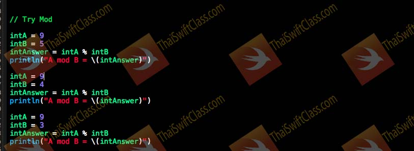 ThaiSwiftClass Operator and Condition coding 2