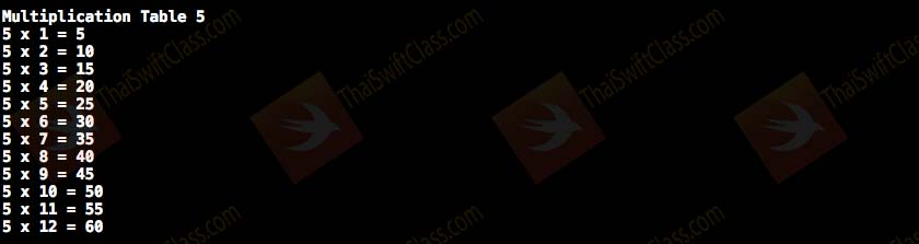 ThaiSwiftClass Control Flow Do While 1 Result