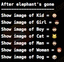 ThaiSwiftClass Dictionary set elephant gone result