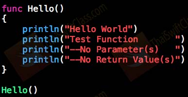 ThaiSwiftClass Function no parameter