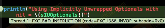 ThaiSwiftClass Optionals Implicitly Unwrapped Optionals Error