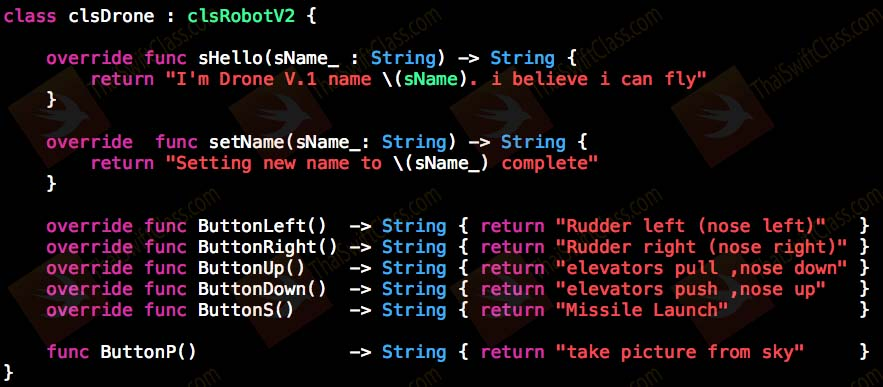 ThaiSwiftClass Class Part 2 Polymorphism use