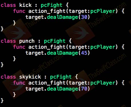 ThaiSwiftClass Protocol and Delegates Part 2 class conform pcFight